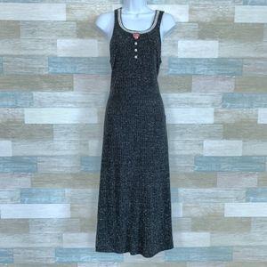Vintage Prairie Maxi Shirtdress Black Decked Out